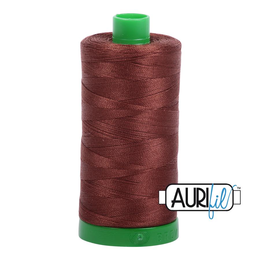 Aurifil 40 wt col. 2360 Chocolate 1094yds