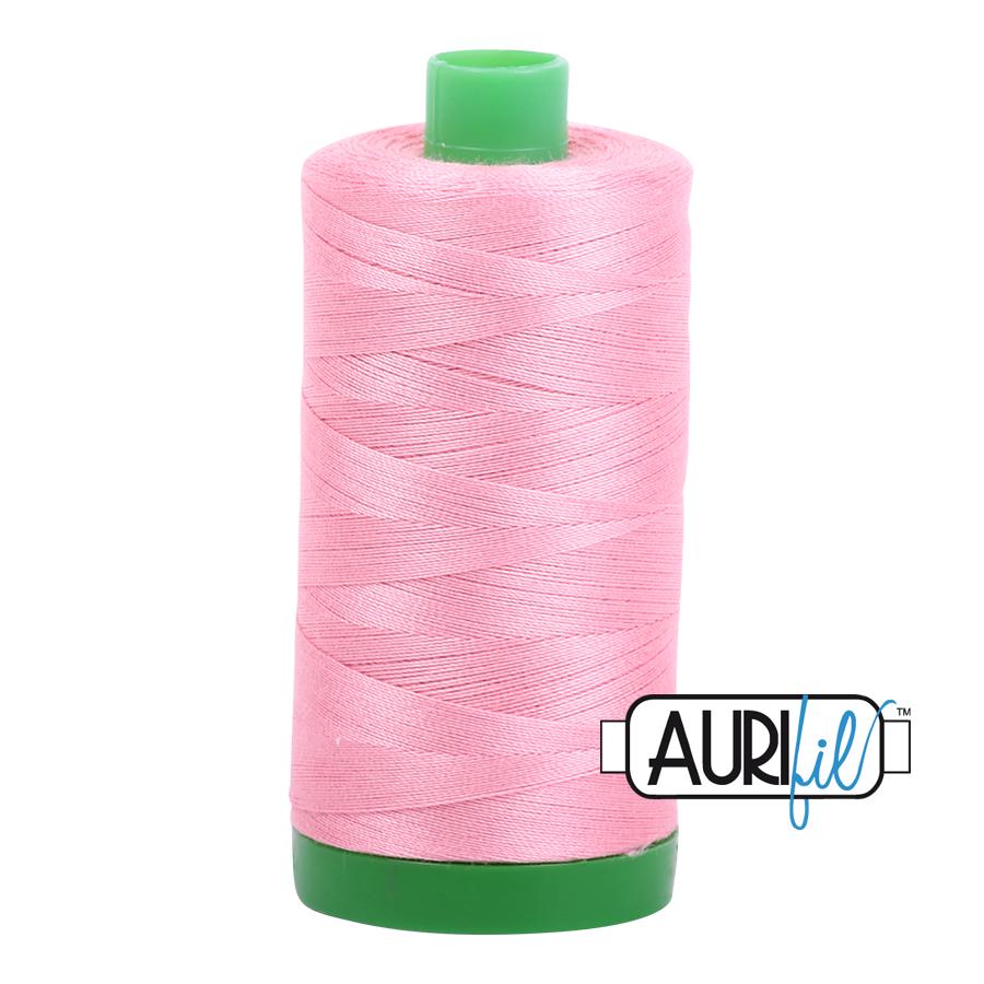 Aurifil 40 wt col. 2425 Bright Pink 1094yds