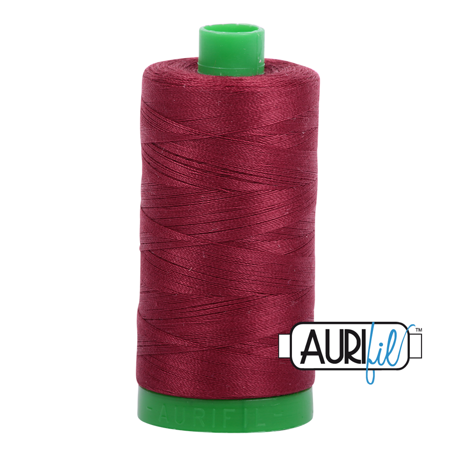 Aurifil 40 wt col. 2460 Dark Carmine Red 1094yds