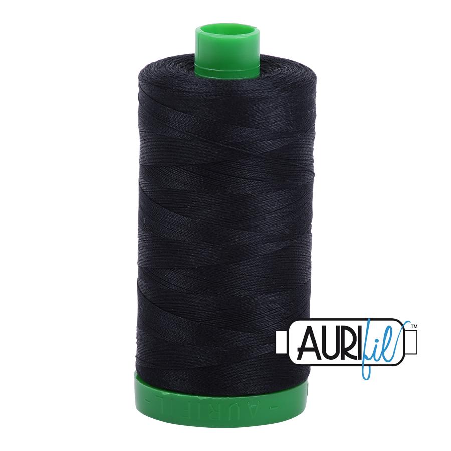 Aurifil 40 wt col. 2692 Black 1094yds