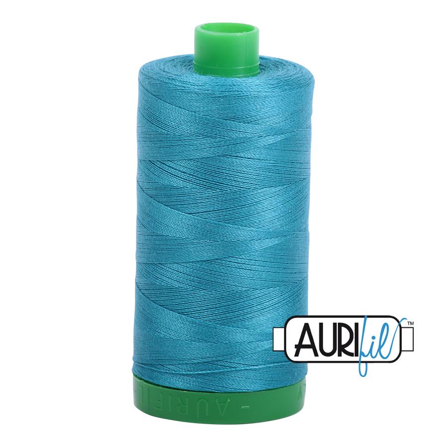 Aurifil 40 wt col. 4182 Medium Turquoise 1094yds
