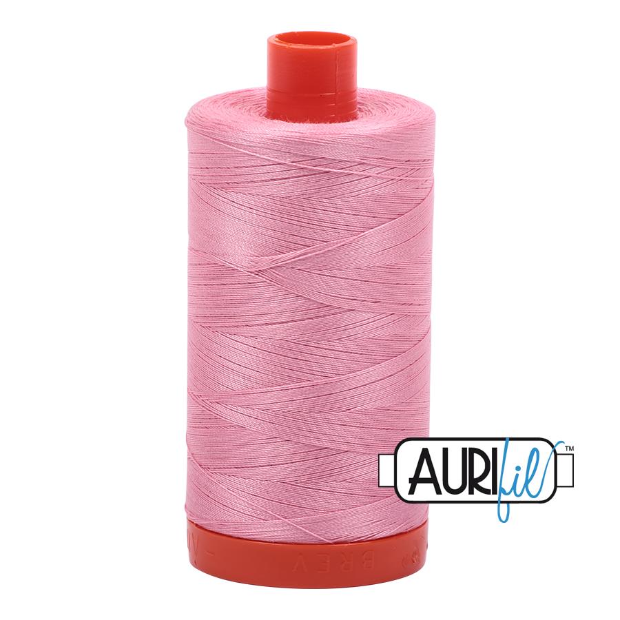 Aurifil 50 wt col. 2425 Bright Pink 1422yds