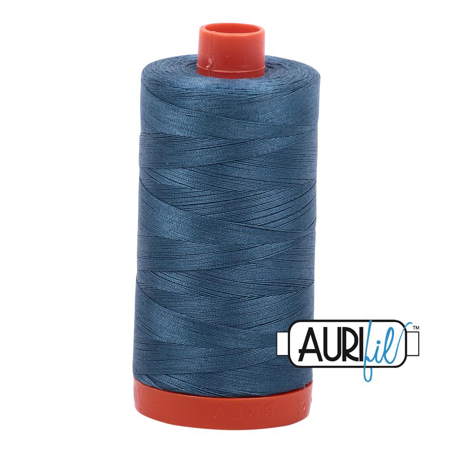 Aurifil 50 wt col. 4644 Smoke Blue 1422yds