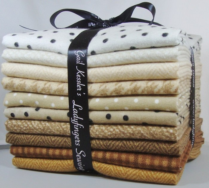 Neutral Flannels Fat Quarter Bundle