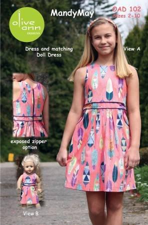 Mandy May Dress and Matching 18 Doll Dress