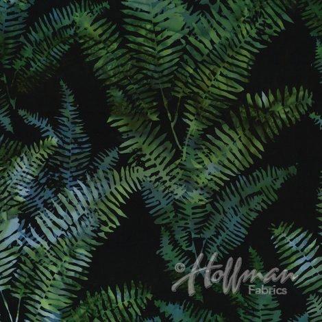 Hoffman Bali Batik Fern Black/Jade P2020-216