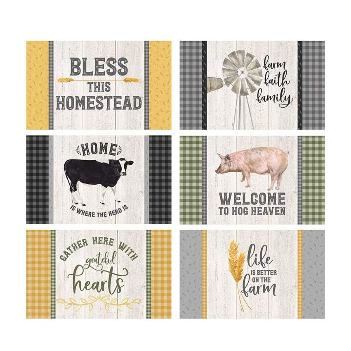 Homestead Life Placemat Panel 36 P9454-PANEL