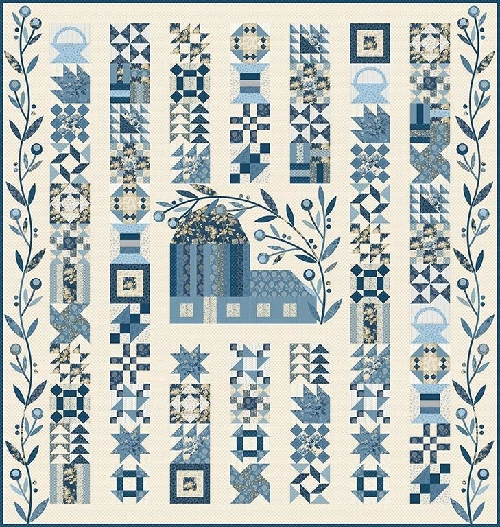 Patchwork Barn Pattern by Laundry Basket Quilts