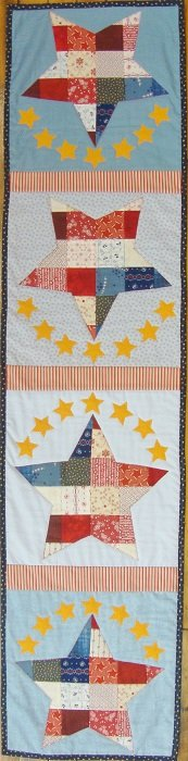 Patchwork Patriotic Table Runner Quilt Kit
