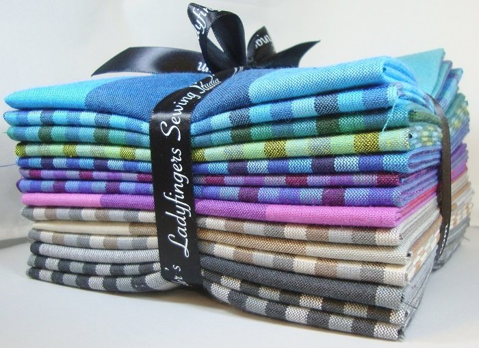 Checks, Plaids & Stripes Peppered Cottons Fat Quarter Bundle