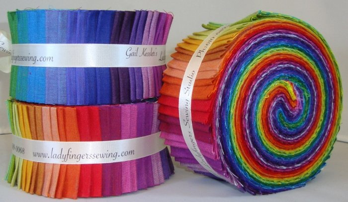 Peppered Cottons Strip Roll - Rainbow
