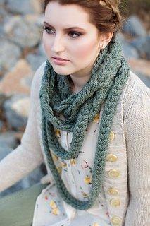 Triple Plait Knit Infinity Scarf Pattern