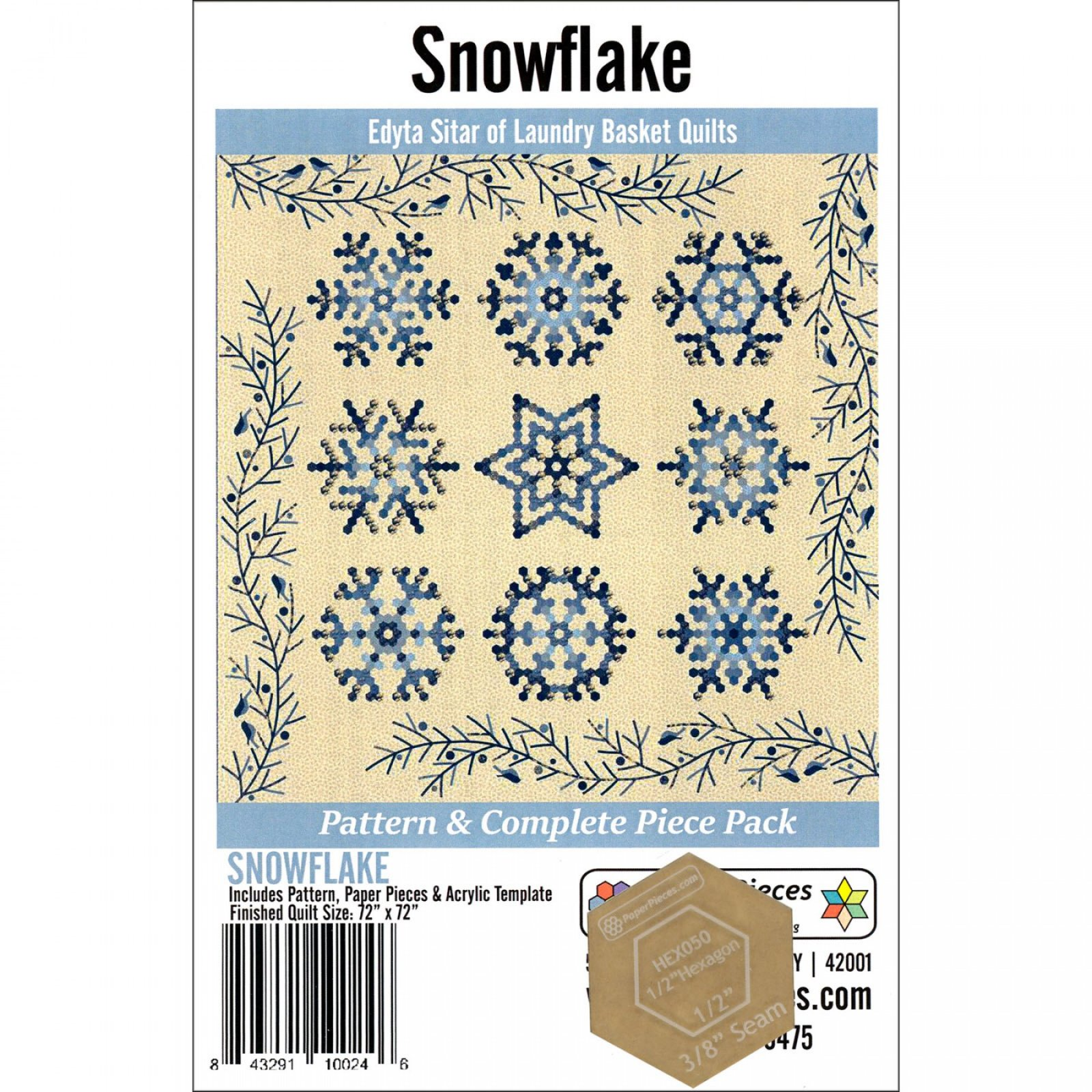 Snowflake Pattern & Complete EPP Pack