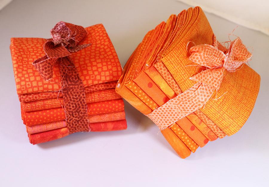 Pumpkin Fat 6th Bundle - 1 Yard (6 - 12 x  21 Pre-Cuts)