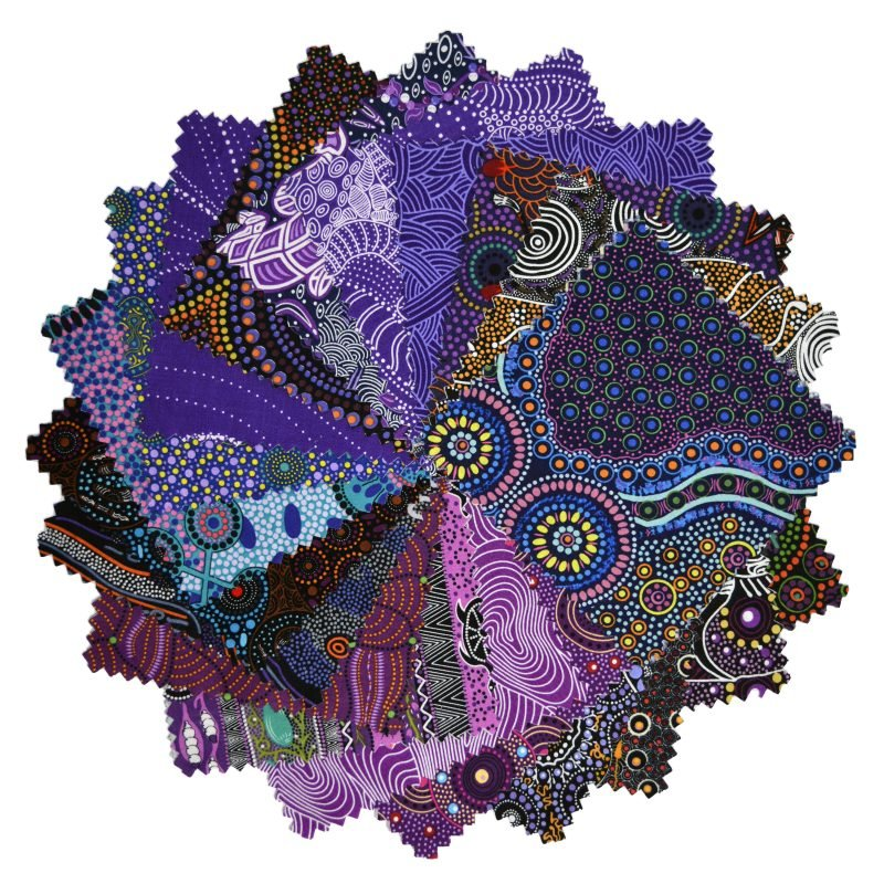 Aboriginal Dreamtime Square Pack - Purple 10