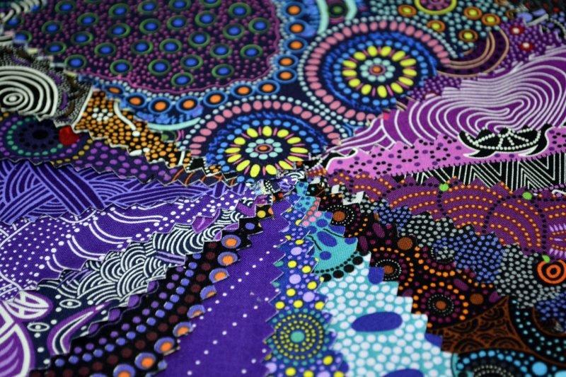Aboriginal Dreamtime Square Pack - Purple 5