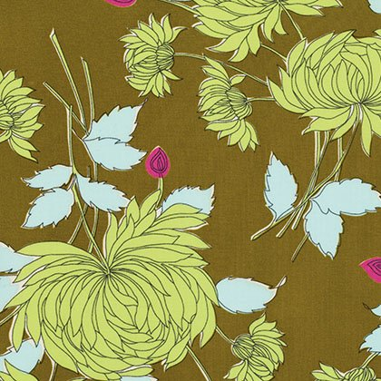 Belle - Chrysanthemum - Olive by Amy Butler
