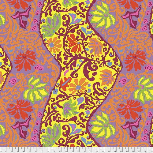 Kaffe Fassett Collective - Bali Brocade - Yellow PWBM069.YELLOW