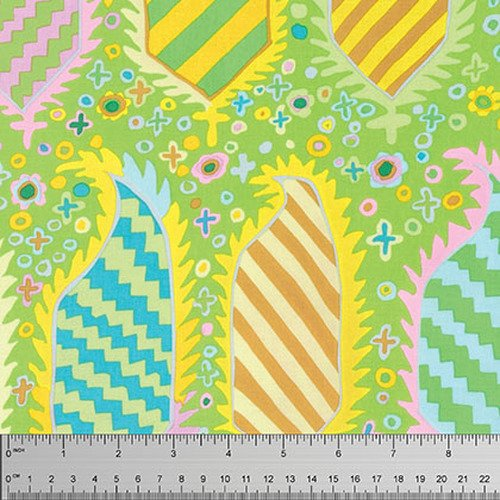 Kaffe Fassett Collective - Striped Heraldic - Green PWGP153.GREEN