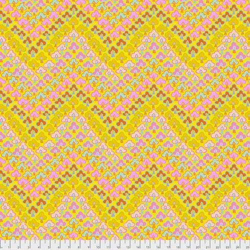 Kaffe fassett Collective - Trefoil - Yellow PWGP167.YELLO