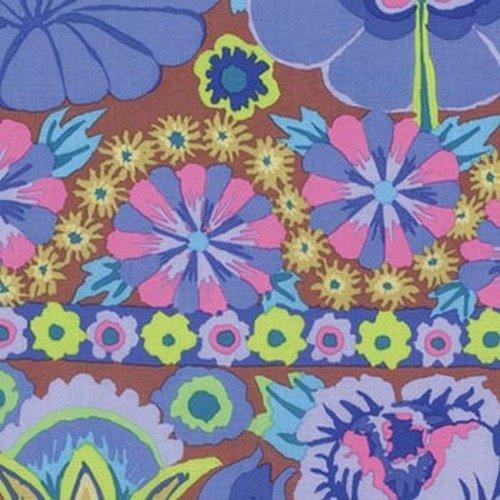 Artisan - Embroidered Flower Border - Blue PWKF001.BLUEX