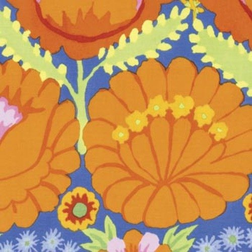 Artisan - Embroidered Flower Border - Orange PWKF001.ORANG