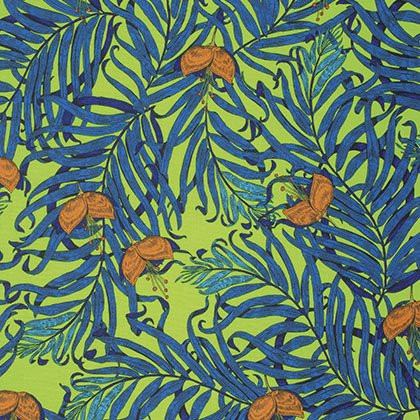 The Garden of Earthly Delights - Palms - Blue PWKM003.8BLUE