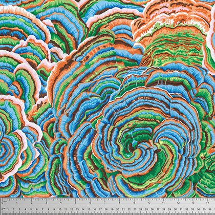 Kaffe Fassett Collective - Tree Fungi - Blue PWPJ082.BLUEX