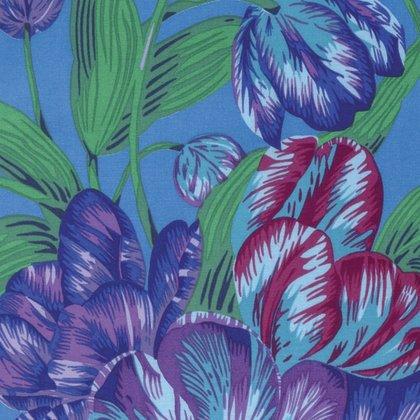 Kaffe Fassett Collective [Spring 2017] - Tulip Extravaganza - Blue PWPJ089.BLUEX