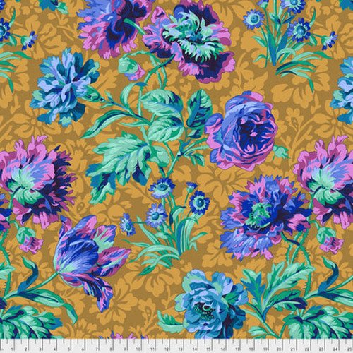 Kaffe Fassett Collective - Baroque Floral - Blue PWPJ090.BLUEX