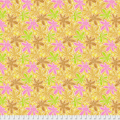 Kaffe Fassett Collective - Lacy Leaf - Yellow PWPJ093.YELLO