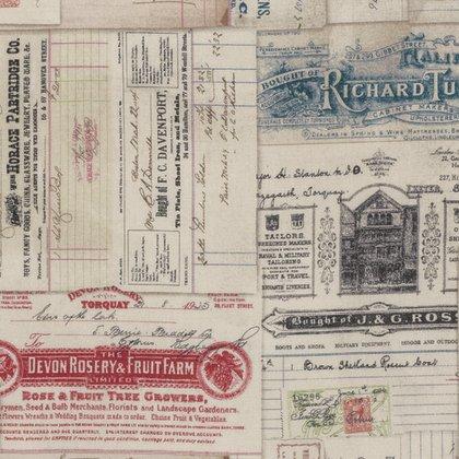 Dapper - Vintage Receipts - Multi PWTH058.8MULT