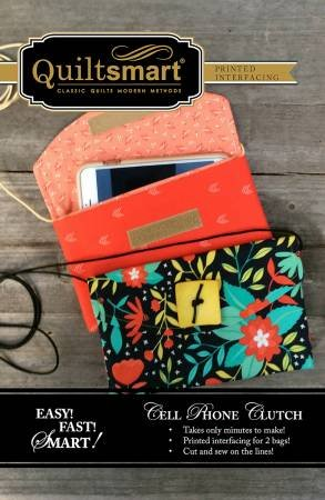Cell Phone Clutch Pre-Printed Interfacing Panel by Quiltsmart