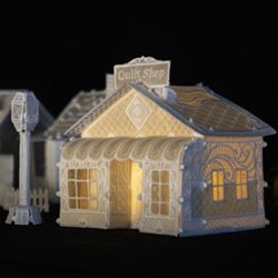OESD Christmas Village: Quiltshop & Lamp Post CD