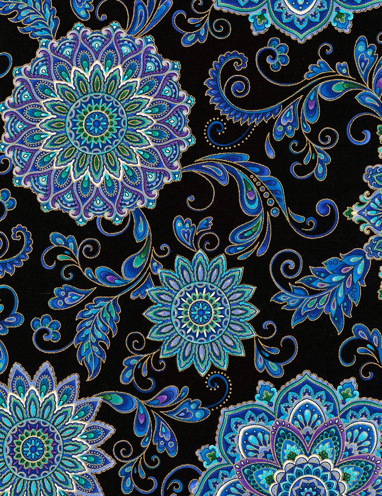 Regency CM7310-BLACK Floral Medallions