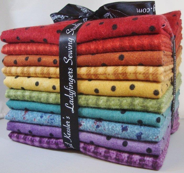 Rainbow Flannels Fat Quarter Bundle