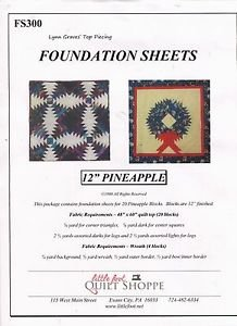 Pineapple Foundation Sheets
