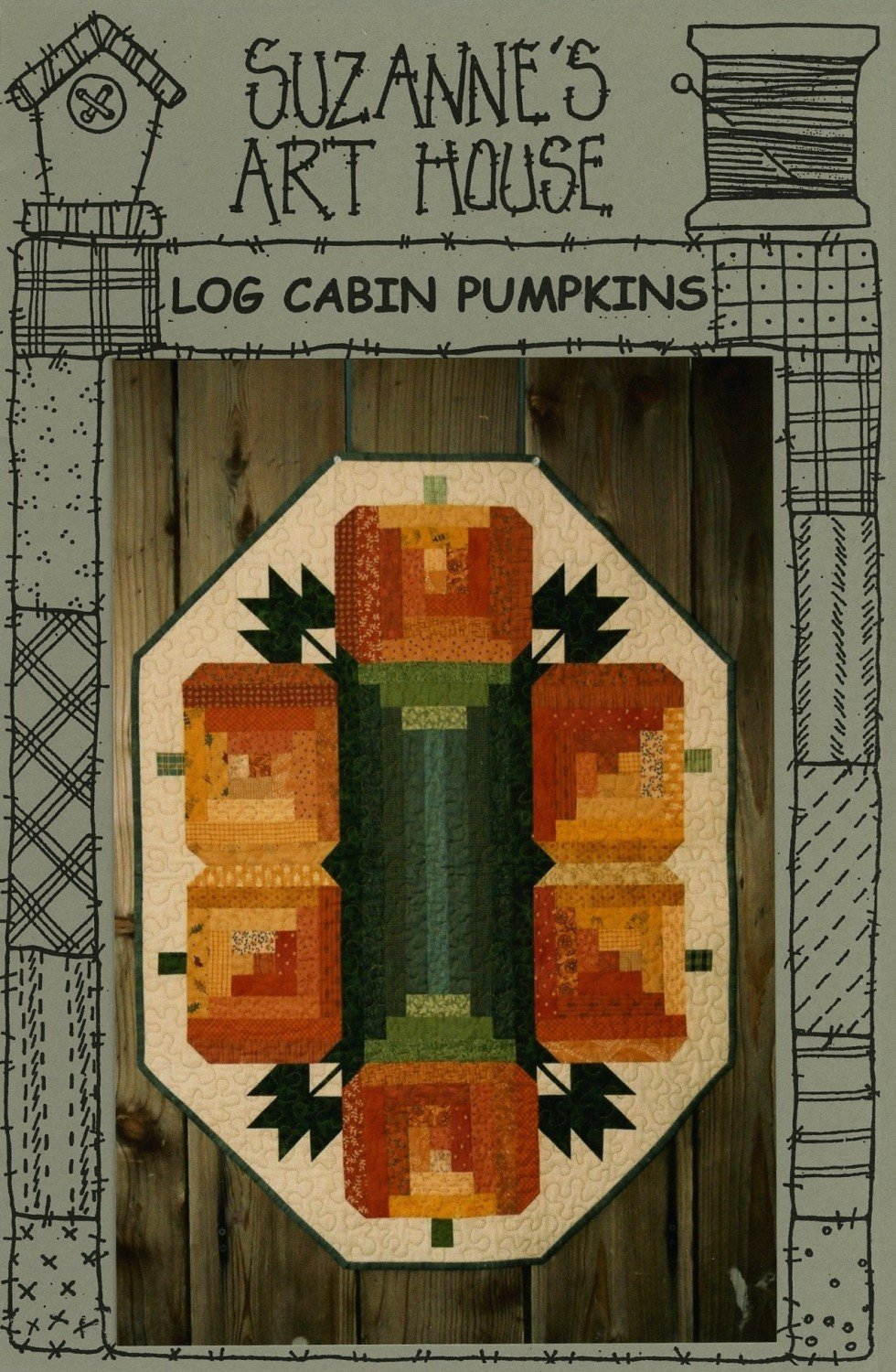 Log Cabin Pumpkins