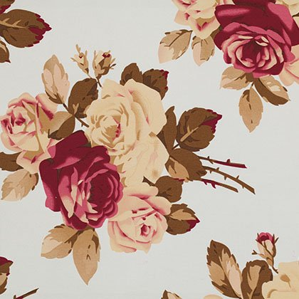 Petal - Large Antique Roses - Blue SATW055.BLUEX  [54 Cotton Sateen]