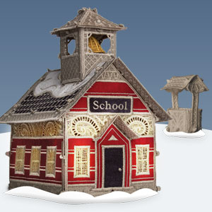 OESD Christmas Village: Schoolhouse with Well CD