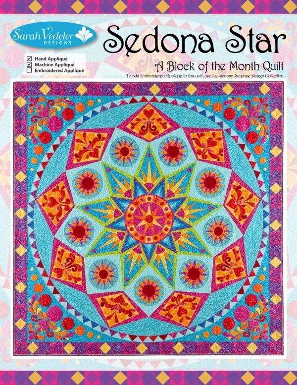 Sedona Star Embroidery CD by Sarah Vedeler