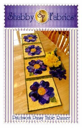 Patchwork Pansy Table Runner