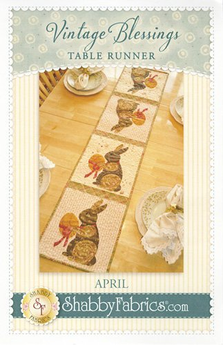Vintage Blessings Table Runner - April