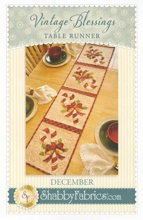Vintage Blessings Table Runner Pattern by Shabby Fabrics