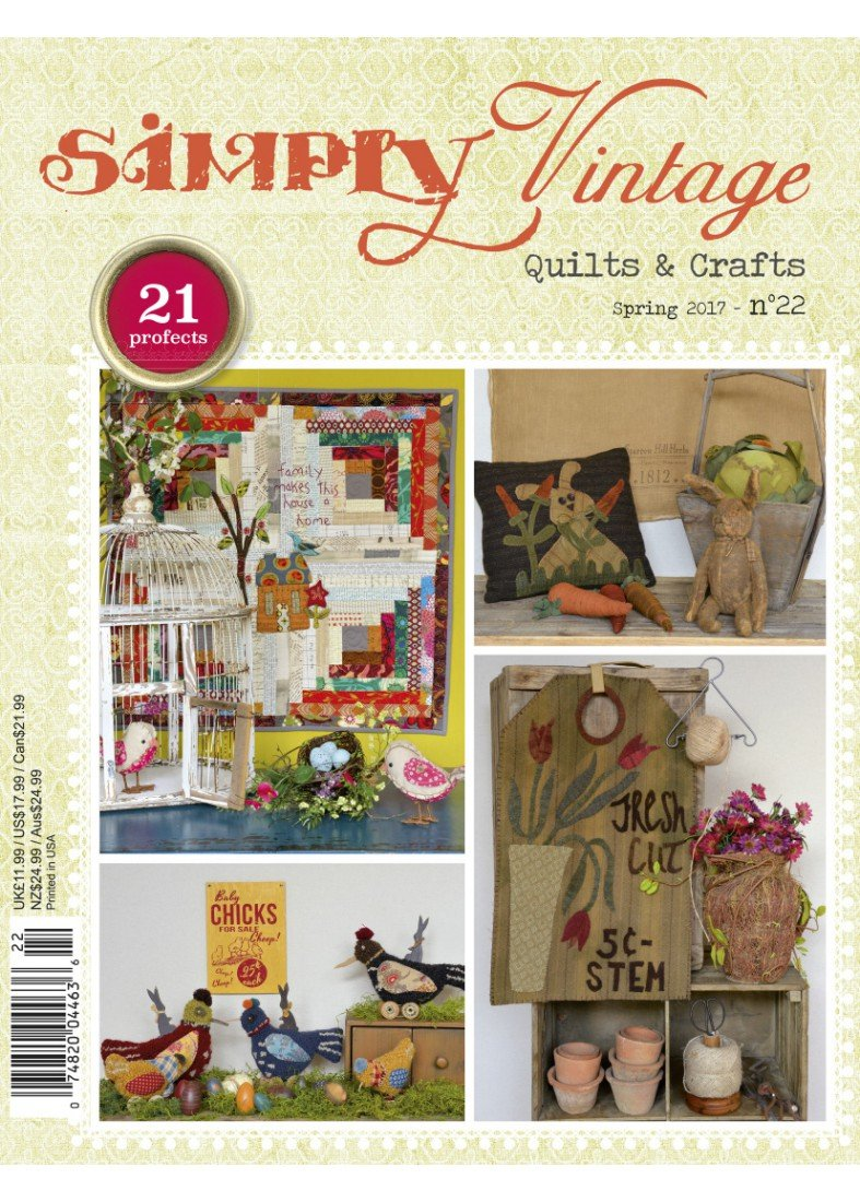 Quarterly Simply Vintage Magazine #22 by Quiltmania