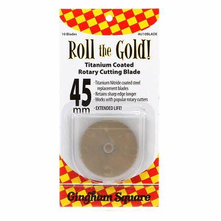 45mm Roll the Gold Titanium Rotary Blades 2pk