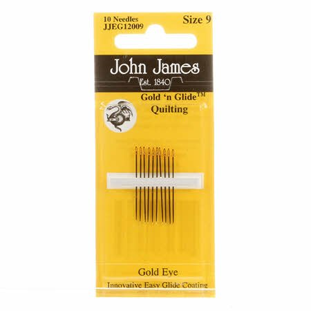 John James Gold'N Glide Between / Quilting Needles Size 9