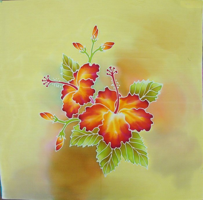 Hand-Painted Fabric [Square Art Panels - Orchids] SQAPECO-O3