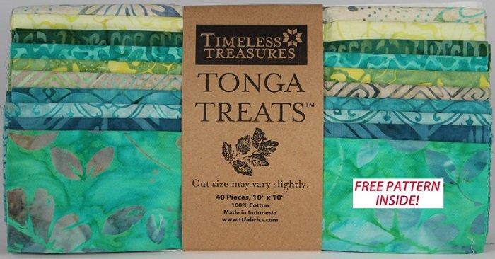 Tonga Treats - Square Lagoon [40 - 10 x 10 Squares]