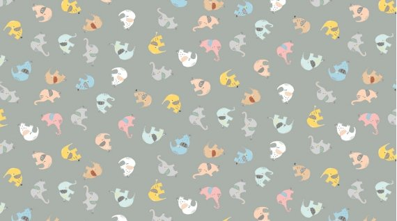 Tossed Elephants 1275-LIMESTONE by Dear Stella